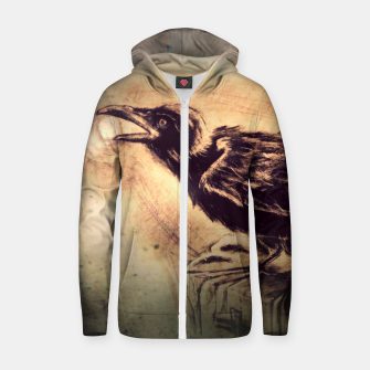 Thumbnail image of Crow Cotton zip up hoodie, Live Heroes