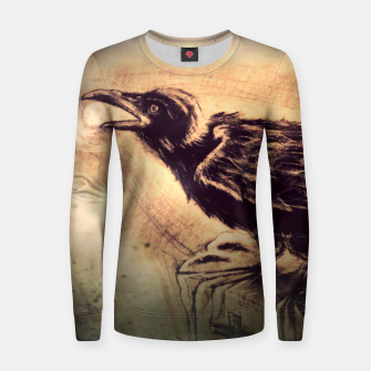 Thumbnail image of Crow Woman cotton sweater, Live Heroes