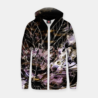Thumbnail image of It turned to flower Cotton zip up hoodie, Live Heroes