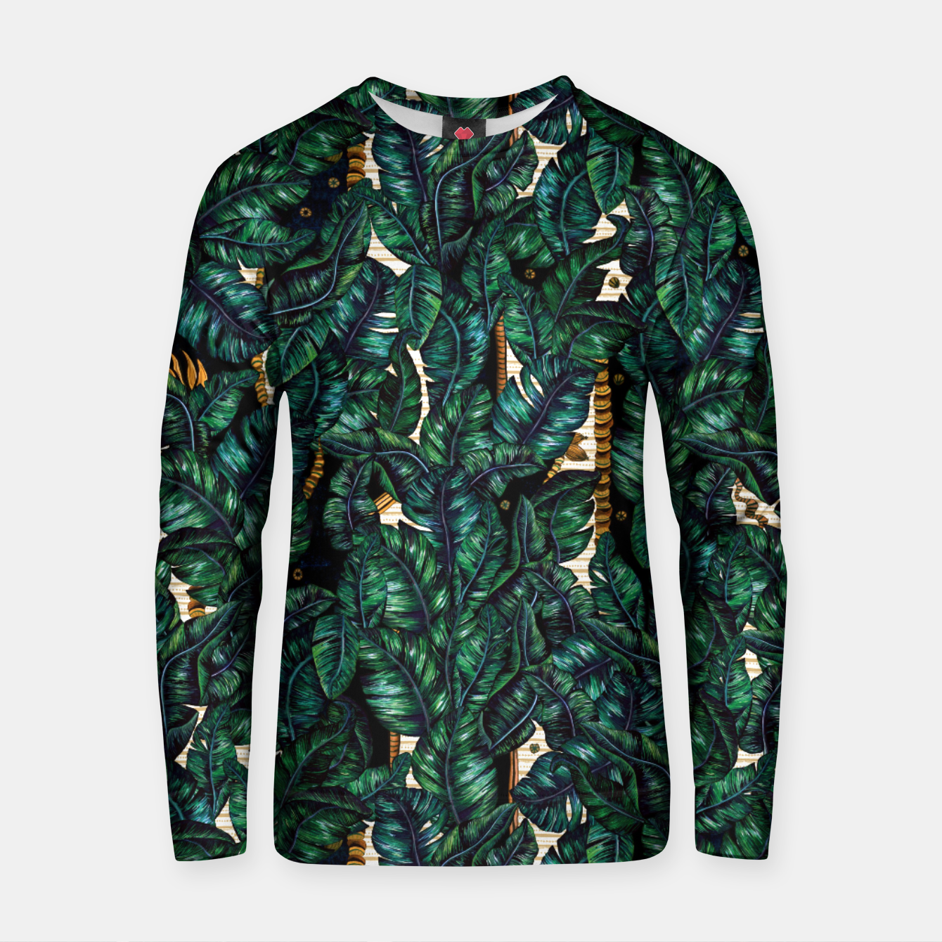 Image of Banana Leaves by Veronique de Jong Cotton sweater - Live Heroes