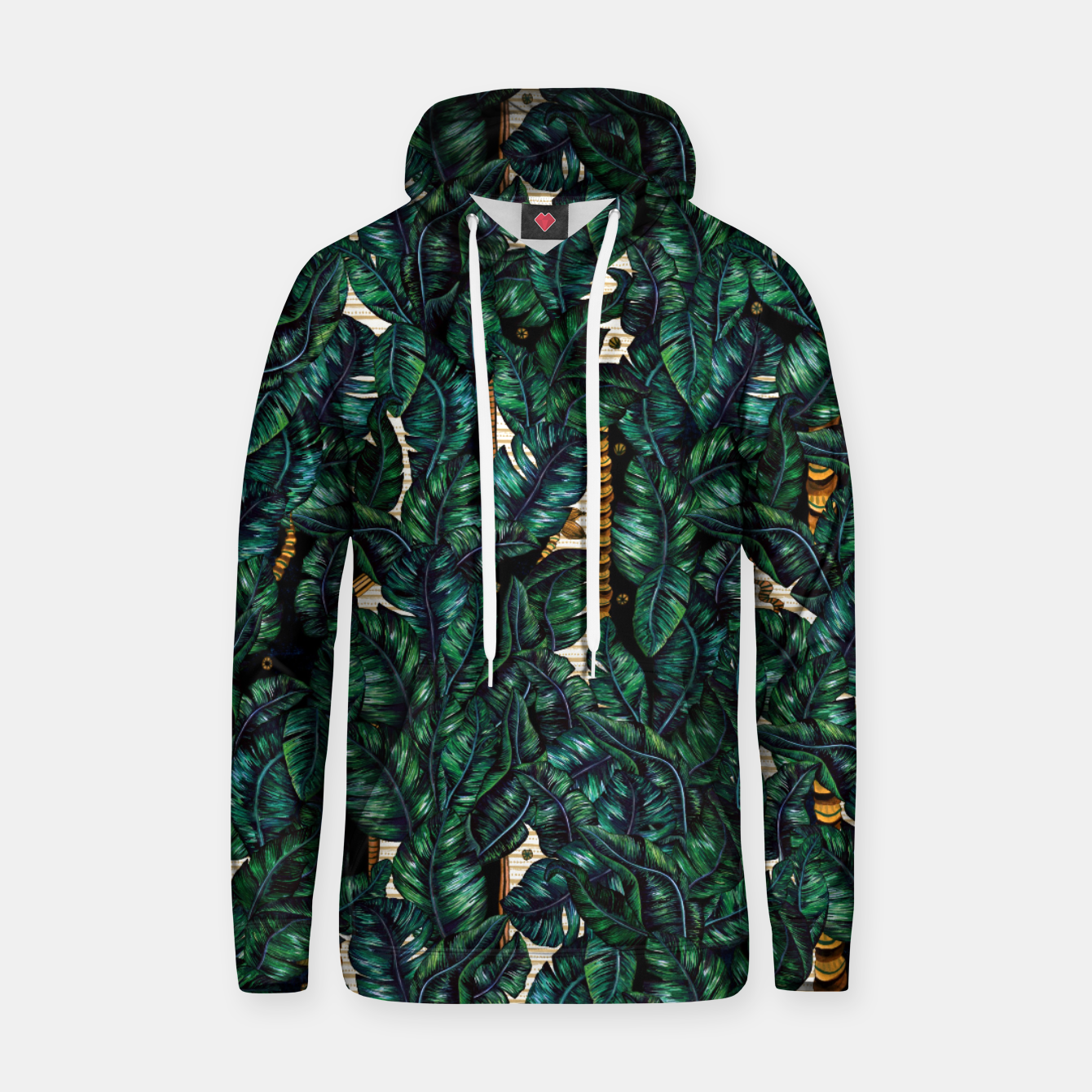 Image of Banana Leaves by Veronique de Jong Cotton hoodie - Live Heroes