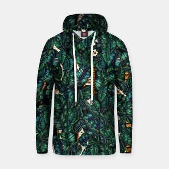 Thumbnail image of Banana Leaves by Veronique de Jong Cotton hoodie, Live Heroes