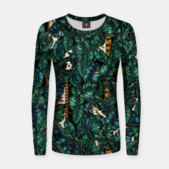 Thumbnail image of Banana Leaves by Veronique de Jong Woman cotton sweater, Live Heroes