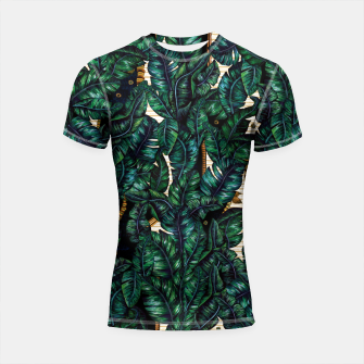 Thumbnail image of Banana Leaves by Veronique de Jong Shortsleeve rashguard, Live Heroes