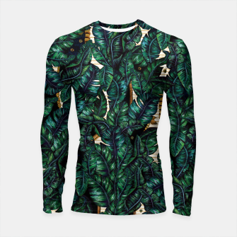 Thumbnail image of Banana Leaves by Veronique de Jong Longsleeve rashguard , Live Heroes