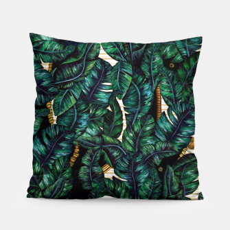 Thumbnail image of Banana Leaves by Veronique de Jong Pillow, Live Heroes