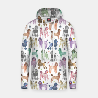 Thumbnail image of Poodles by Veronique de Jong Cotton hoodie, Live Heroes