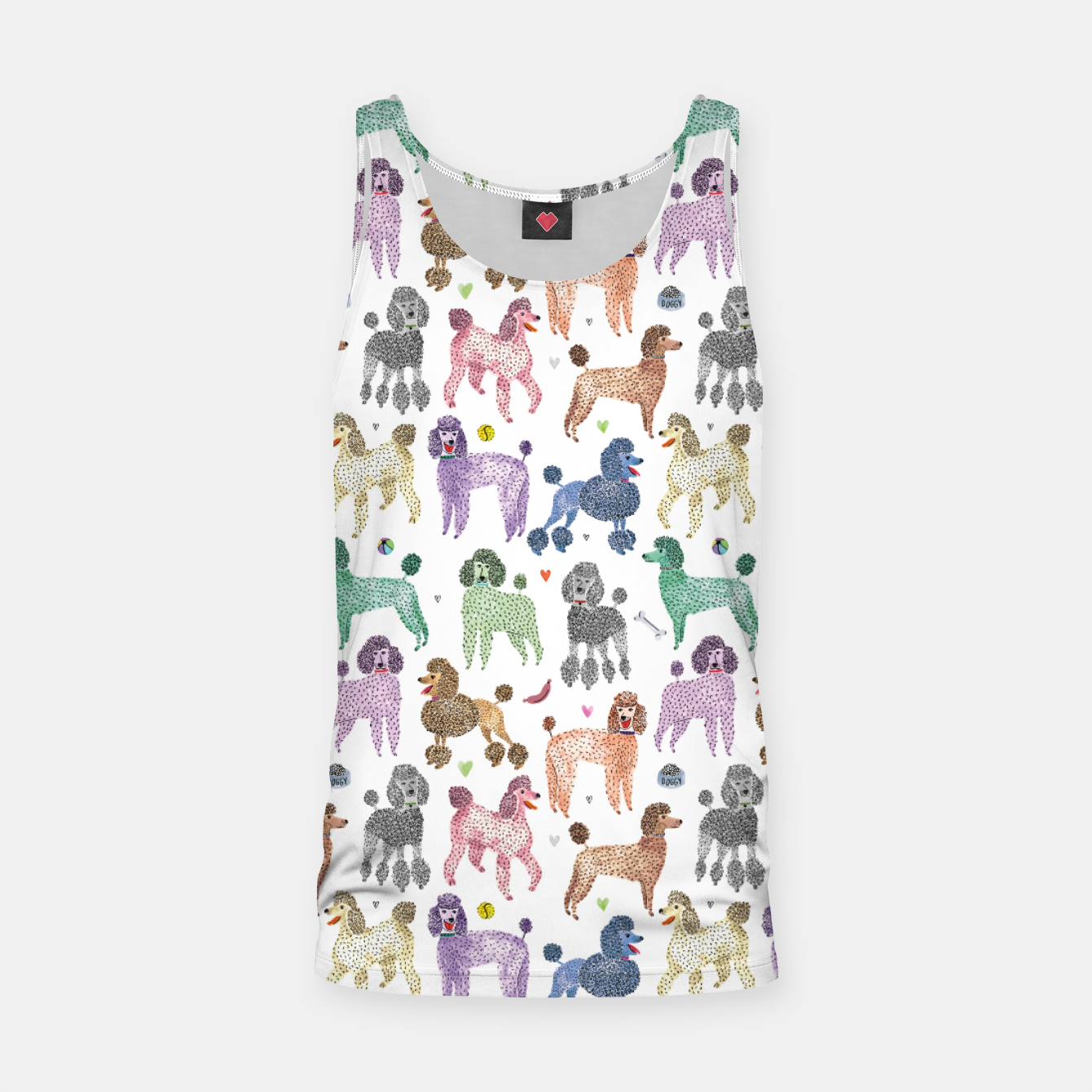 Image of Poodles by Veronique de Jong Tank Top - Live Heroes
