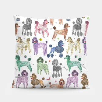 Poodles by Veronique de Jong Pillow thumbnail image