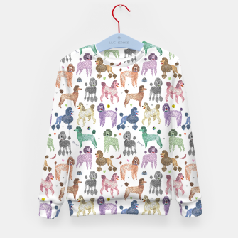 Thumbnail image of Poodles by Veronique de Jong Kid's sweater, Live Heroes