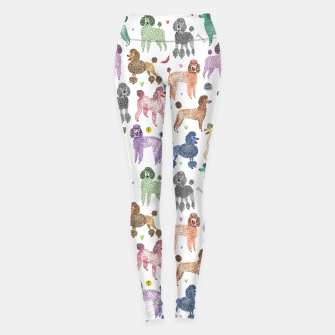 Thumbnail image of Poodles by Veronique de Jong Leggings, Live Heroes