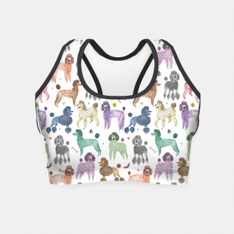 Thumbnail image of Poodles by Veronique de Jong Crop Top, Live Heroes