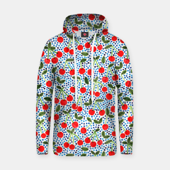 Thumbnail image of Cherries! by Veronique de Jong Cotton hoodie, Live Heroes