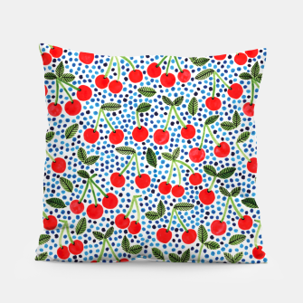 Cherries! by Veronique de Jong Pillow thumbnail image