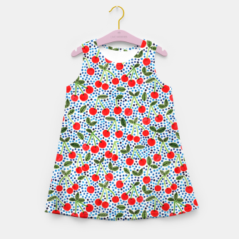 Thumbnail image of Cherries! by Veronique de Jong Girl's summer dress, Live Heroes