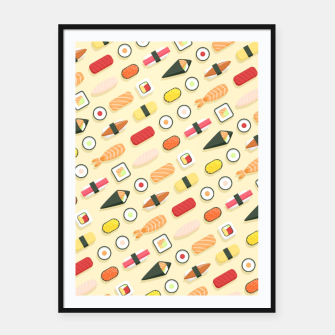 Miniatur All The Sushi Framed poster, Live Heroes
