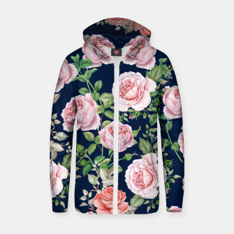 Mysteries Roses Cotton zip up hoodie thumbnail image