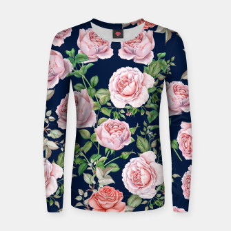 Mysteries Roses Woman cotton sweater thumbnail image