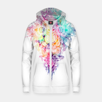 Miniatur anosognosia - mandala Cotton zip up hoodie, Live Heroes