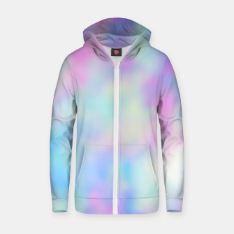 Thumbnail image of Pastel Palette Cotton zip up hoodie, Live Heroes