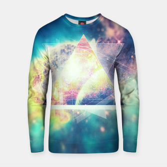 Miniature de image de Awsome collosal deep space triangle art sign Cotton sweater, Live Heroes