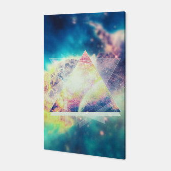 Thumbnail image of Awsome collosal deep space triangle art sign Canvas, Live Heroes