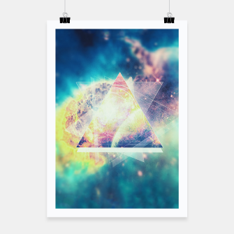 Thumbnail image of Awsome collosal deep space triangle art sign Poster, Live Heroes