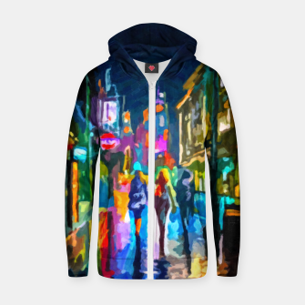 Thumbnail image of Art1st1k II Cotton zip up hoodie, Live Heroes