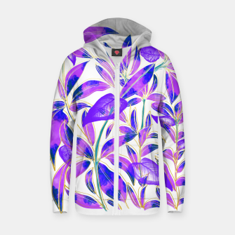 Thumbnail image of Ultraviolet Nature Cotton zip up hoodie, Live Heroes
