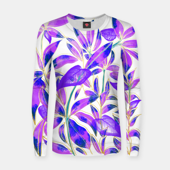 Miniaturka Ultraviolet Nature Woman cotton sweater, Live Heroes