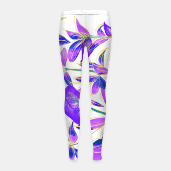 Miniatur Ultraviolet Nature Girl's leggings, Live Heroes