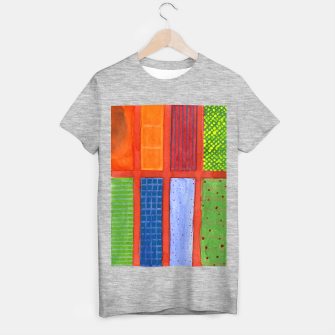 Miniatur Large rectangle Fields between red Grid  T-shirt regular, Live Heroes
