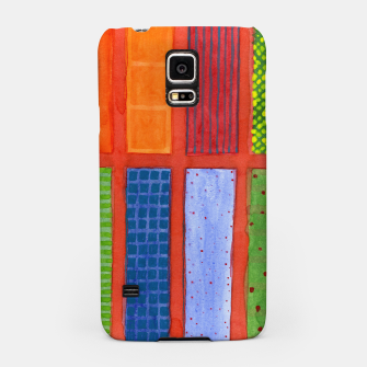 Miniatur Large rectangle Fields between red Grid  Samsung Case, Live Heroes