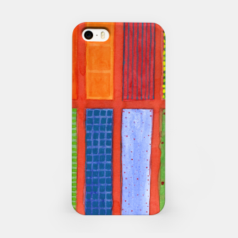Miniatur Large rectangle Fields between red Grid  iPhone Case, Live Heroes