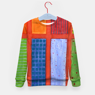 Miniatur Large rectangle Fields between red Grid  Kid's sweater, Live Heroes