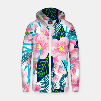 Thumbnail image of Floral Gift Cotton zip up hoodie, Live Heroes