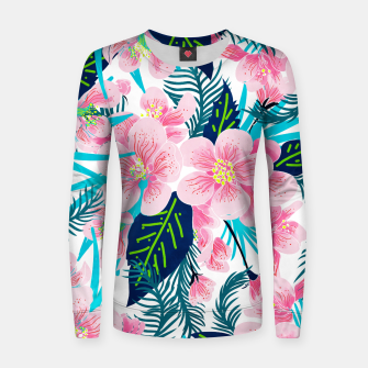 Thumbnail image of Floral Gift Woman cotton sweater, Live Heroes