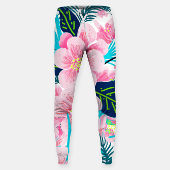 Thumbnail image of Floral Gift Cotton sweatpants, Live Heroes