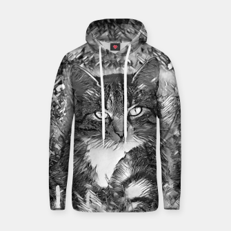 Thumbnail image of AnimalArtBW_Cat_001_by_JAMFoto Cotton hoodie, Live Heroes
