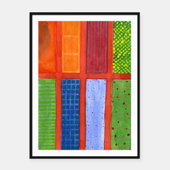 Miniatur Large rectangle Fields between red Grid  Framed poster, Live Heroes