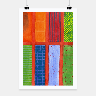 Miniatur Large rectangle Fields between red Grid  Poster, Live Heroes