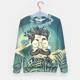 Thumbnail image of Moustache Kid's sweater, Live Heroes