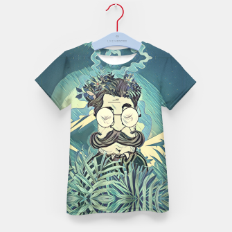 Thumbnail image of Moustache Kid's t-shirt, Live Heroes