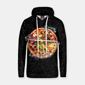Thumbnail image of Pizza is cool Cotton hoodie, Live Heroes