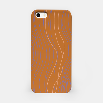 Thumbnail image of iPhone case brown wood lines, Live Heroes