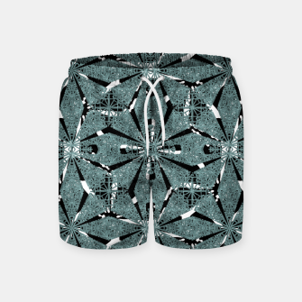 Thumbnail image of Modern Oriental Ornate Pattern Swim Shorts, Live Heroes