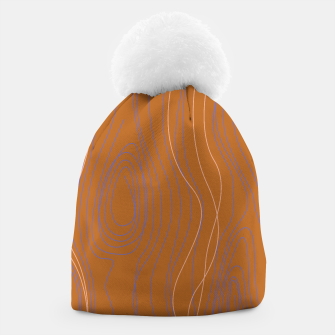 Thumbnail image of Design beanie brown wood lines, Live Heroes