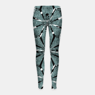 Thumbnail image of Modern Oriental Ornate Pattern Girl's leggings, Live Heroes