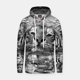 Thumbnail image of AnimalArtBW_Tiger_001_by_JAMFoto Cotton hoodie, Live Heroes