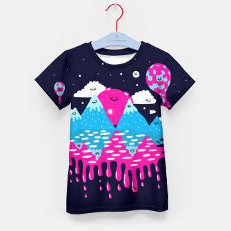Miniaturka Moon, stars and balloons Kid's t-shirt, Live Heroes